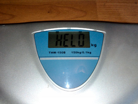 BATHROOM SCALES: Probably wrong as you can't have gained that much