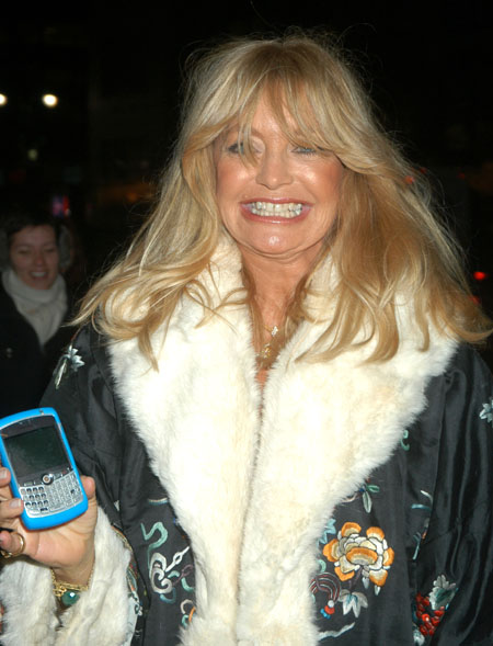 Goldie Hawn and some sort of fancy mobile