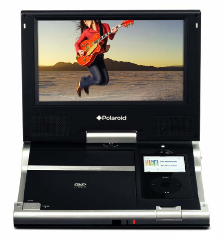 Polaroid iPod DVD player
