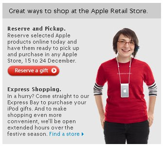 apple store assistant festive