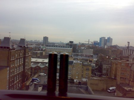 hotel room remote battery and industrial landscape 2